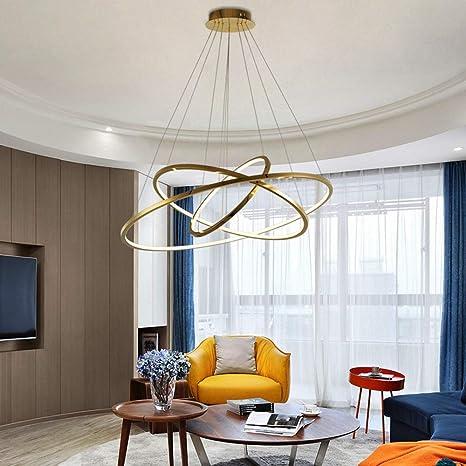 Araña de acero inoxidable / Iluminación moderna y sencilla ...