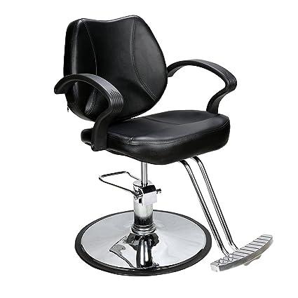 BarberPub - Sillón de peluquería (Acero, tamaño único)