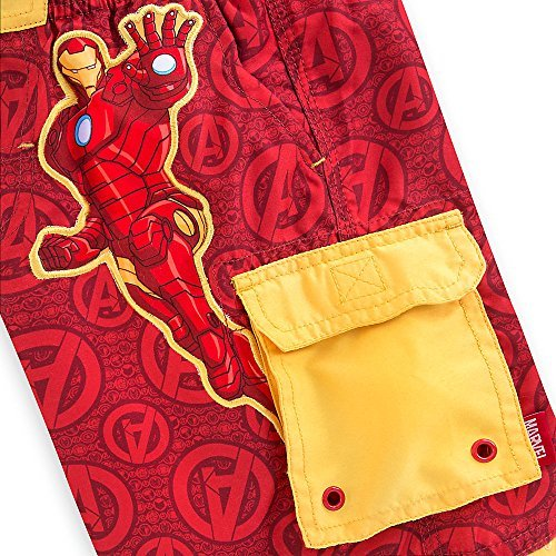 Disney Store Avengers ''Pool resources'' Swim Trunks for Boys, Size 5/6, Red