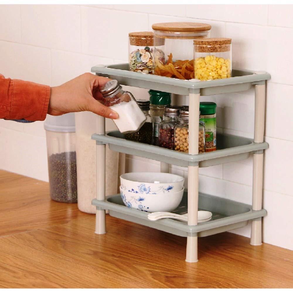 ANVEL Multi-Use Plastic 3-Layer Storage Organizer Rack for Kitchen, Bathroom, Living Room, Bedroom (Standard) (B07NWLMCKZ) Amazon Price History, Amazon Price Tracker