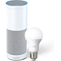 Echo Plus with built-in Smart Home Hub - White plus Philips Hue Smart Bulb included