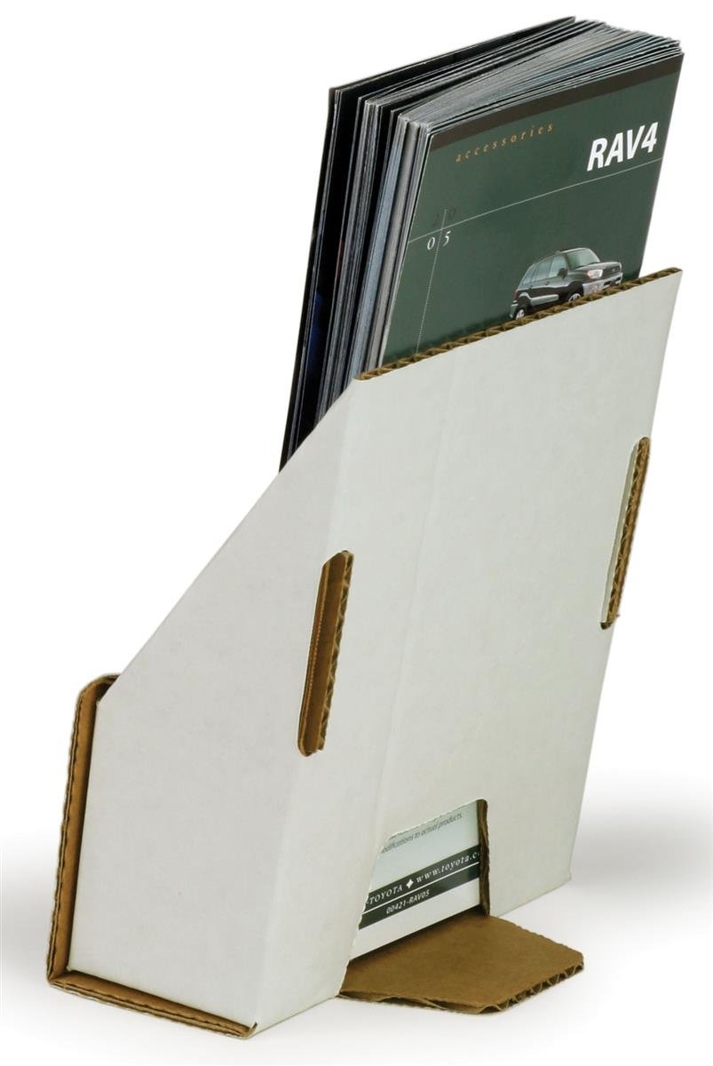 Cardboard brochure holders cardboard brochure holder for Brochure holder template