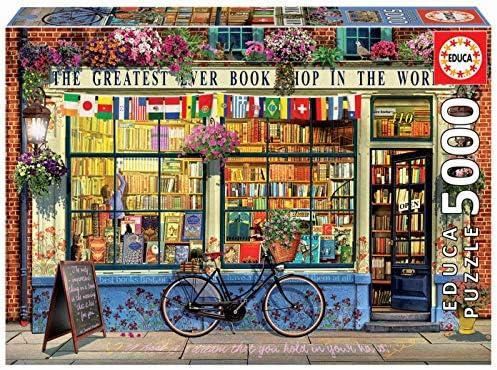 Educa-Puzzle de 5000 Piezas La Mejor Librería del Mundo (18583): Amazon.es: Juguetes y juegos