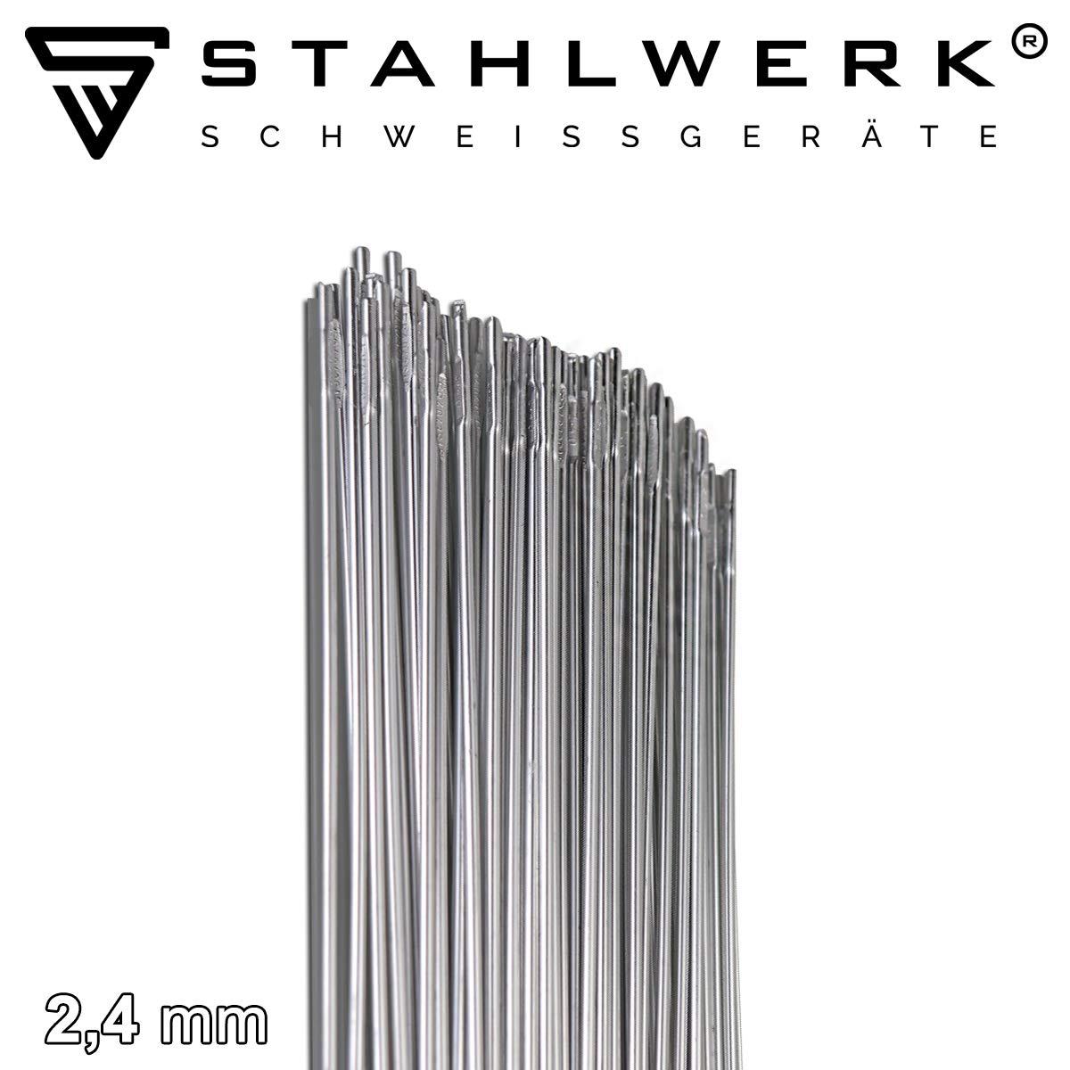 2 kg WIG Schwei/ßzusatz STAHLWERK Schwei/ßst/äbe ER4043Si5 Aluminium hochlegiert///Ø 2,4 mm x 500 mm
