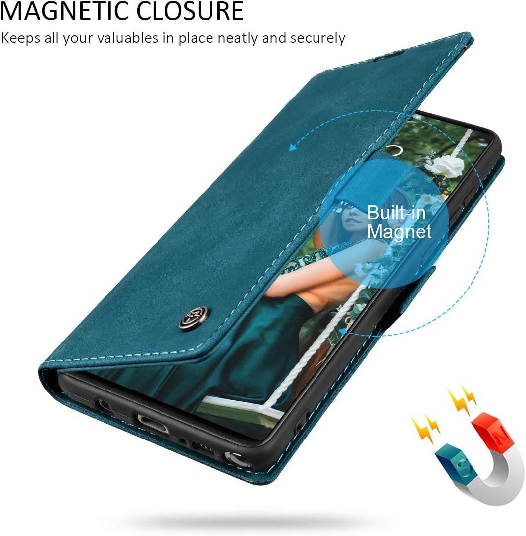 Azul-Verde RuiPower para Funda Samsung Galaxy Note 10 Lite con Tapa Funda Samsung Note 10 Lite Libro Fundas de Cuero PU Premium Magn/ético Tarjetero y Suporte Silicona Carcasa Samsung Note 10 Lite
