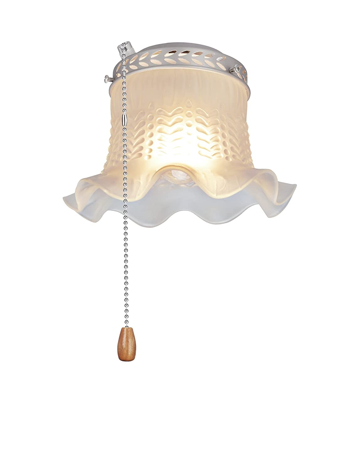 One Ceiling Fan Fitter Light Kit with Pull Chain 4 1//2 Diameter Brushed Nickel Aspen Creative 22001-11