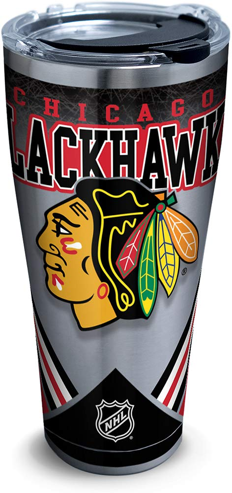 Tervis 1280933 Nhl Chicago Blackhawks Ice Stainless Steel Tumbler With Lid 30 oz Silver
