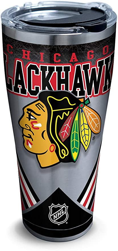 d3ef110e300a9 Tervis 1280933 Nhl Chicago Blackhawks Ice Stainless Steel Tumbler With Lid  30 oz Silver