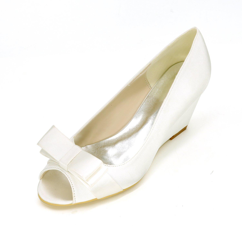 Qingchunhuangtang@ Hochwertige Elegante Schuhe Bow Fisch Mund Hang Sandale Groß High Heels's Wedding Dress Damen Schuhe