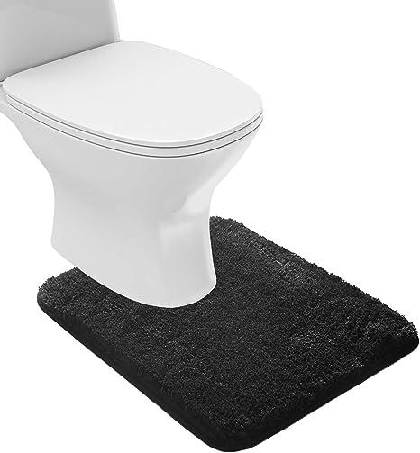 1-Non-Slip Bath Rug Mat Shaggy Microfiber Floor Toilet Bathroom Absorbent Soft