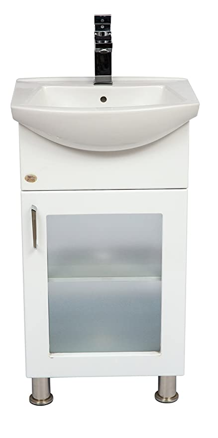 Dazzle Kitchen Modular BWR Plywood Vanity Washbasin Cabinet(White )