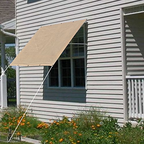Alion Home Sun Shade Privacy Panel with Grommets on 2 Sides for Patio Awning Window Cover Canopy Pergola or Gazebo - Banha Beige (6u0027X 4u0027) & Sun Shades for Windows: Amazon.com