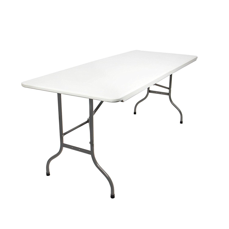 GoodView Campingtisch Gartentisch Klapptisch Falttisch Faltbarer Tisch Campingmöbel Markttisch Flohmarkttisch Koffertisch 180x72x76cm