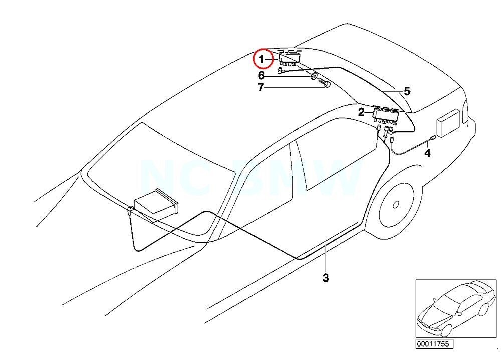 Amazon Com Bmw Genuine Amplifiertrap Circuit Automotive