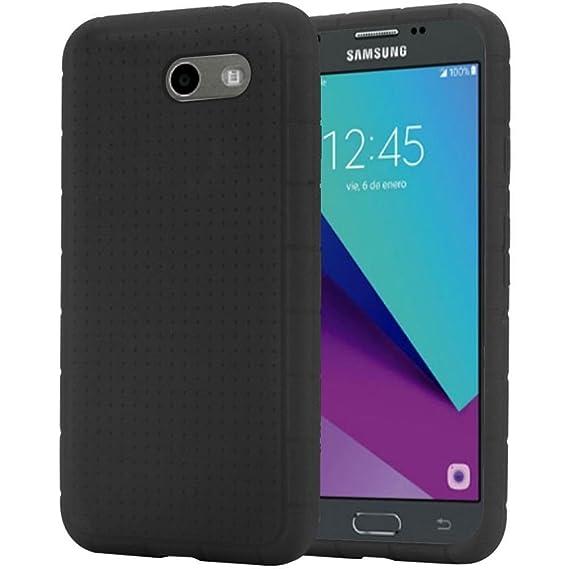 best service e048b b1785 Soft Flexi Silicone Case Cover For Samsung J3 Emerge J3 2017 SM-J327P  SM-J327A (Black)