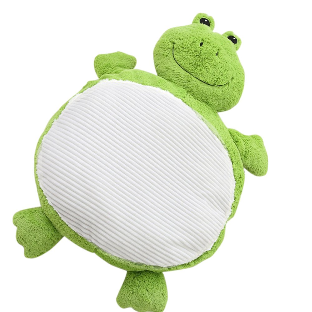 Exttlliy Cute Plush Animals Shape Decorative Floor Pillow Cushion Stuffed with PP Cotton for Children (Frog)