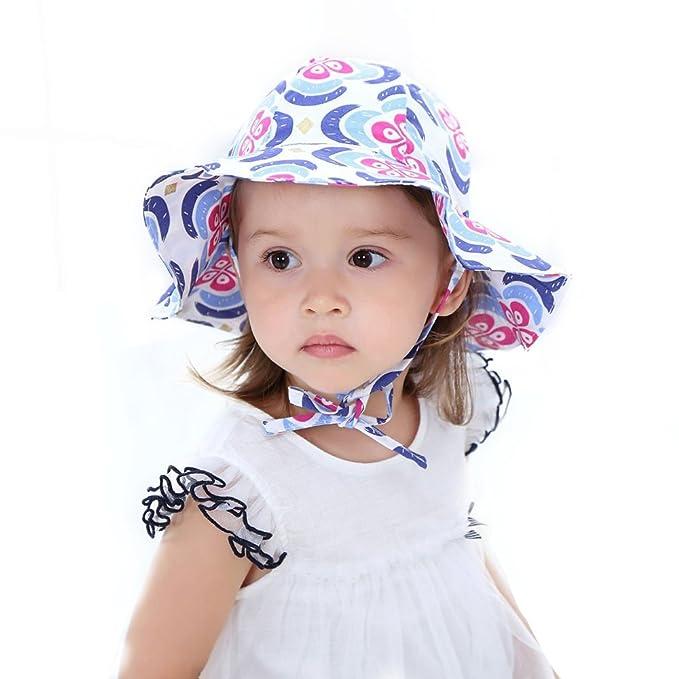 513ba6847ee Toddler Baby Girl Summer Bucket Hats Kid Girl Cotton Sun Hat Beach  Fisherman Cap UPF50+