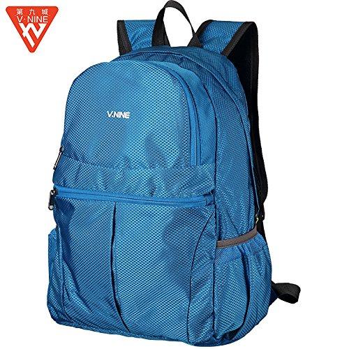 HYSXM Mountaineering Bag Outdoor Freizeitaktivitäten leichtes Wandern Bergsteigen floding Paket wasserdichte Haut Taschen , blau