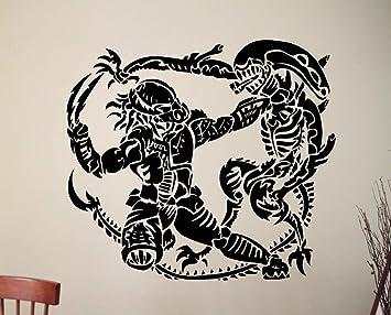 Alien Vs Predator Retro Vinyl Poster Arte de La Pared Tatuajes de ...