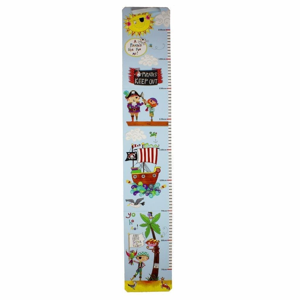 Rachel Ellen Pirate Design Fine Children's Height Chart Lesser & Pavey