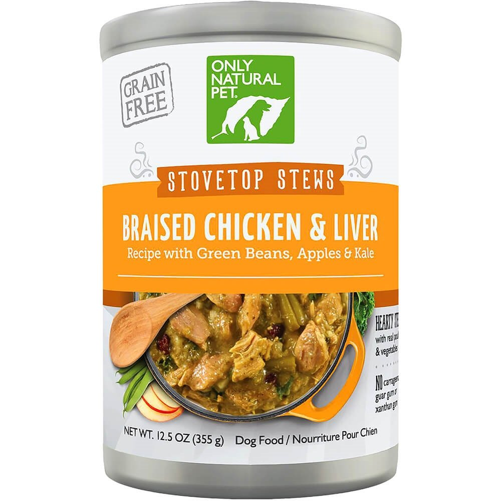 Only Natural Pet Stovetop Stews Grain-Free, Premium Wet Canned Dog Food, Braised Chicken & Liver Stew 12.5 oz Cans (Case of 12) by Only Natural Pet (Image #1)