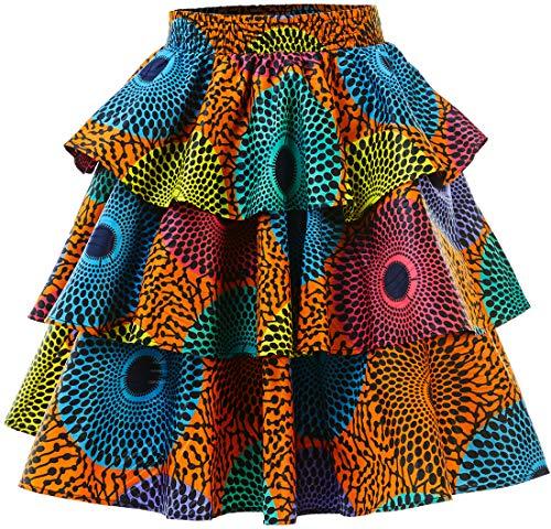 (HongyuAmy Women African Print Skirt Ankara Skirts Dashiki Clothing (XX-Large, Color A) )