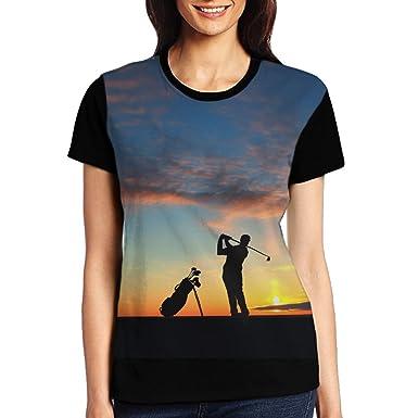 Amazon com: Michgton Golf Sports Sunset Female Summer Humor