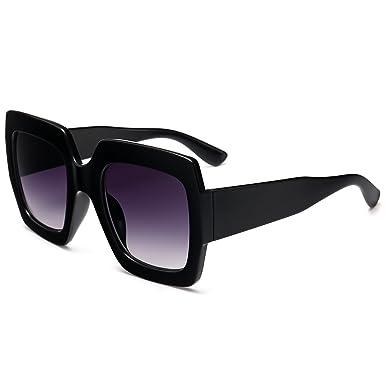 Square Frame Designer Inspired Oversize Sunglasses For Women Brand Designer Shades by Lingdu