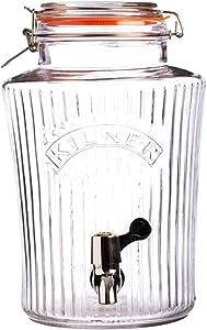 Kilner Vintage Glassware Drink Dispenser, 1-1/4-Gallons