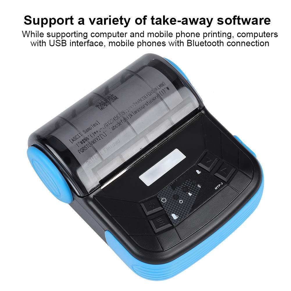 EJOYDUTY Impresora térmica de Recibos de Bluetooth ...