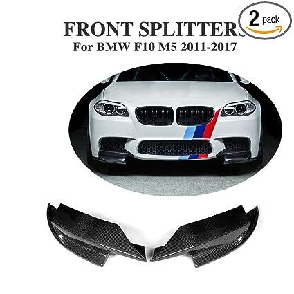 Jcsportline fits BMW 5 Series F10 M5 Bumper 2011-2017 Carbon Fiber Front  Splitters Flaps Aprons (Non M sport & Base Bumper)