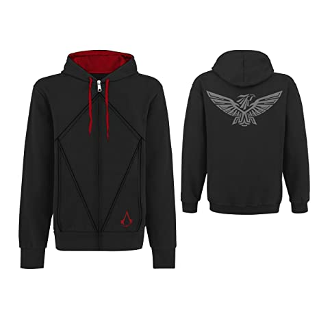 Assassins Creed 3 - Sudadera Desmond Eagle, Talla M, Color Negro