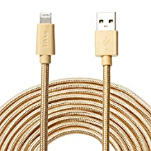 Zikko 16Ft(5M) Apple MFi Certified USB Lightning Cable, 2.4A Charge and Sync Long Nylon Braided for iPhone, iPad, iPod (16 Ft)