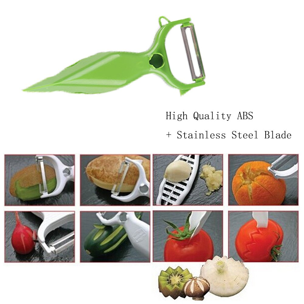 Salad Cutter Bowl Quick Salad Maker Fruit Slicer Easy Vegetable Chopper in 60 Seconds+ Free Peeler (Green) by Generic (Image #4)