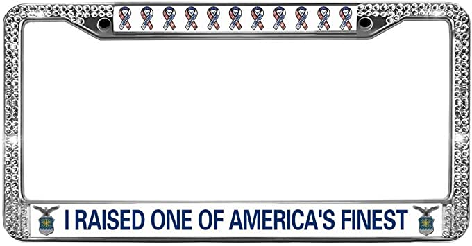 U.S Air Force Mom Chrome License Plate Frame  Free Screw Caps with this Frame