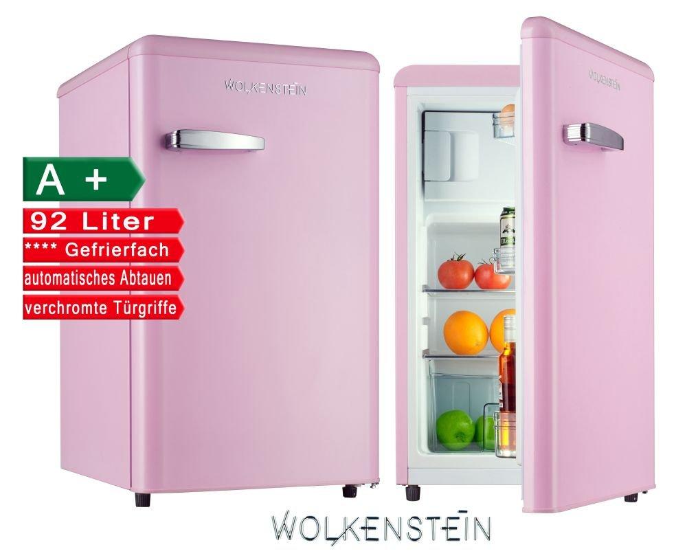 Retro Kühlschrank mit Gefrierfach Pink KS 95RT SP A+ 90 Liter ...