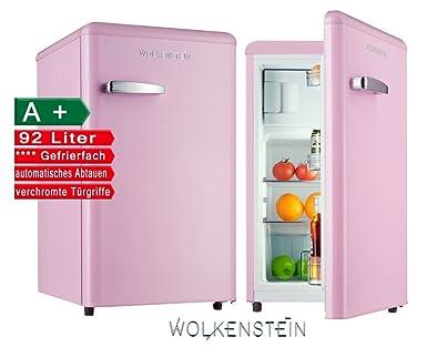 Kühlschrank retro rosa  Retro Kühlschrank mit Gefrierfach Pink KS 95RT SP A+ 90 Liter ...