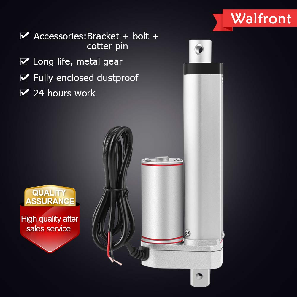 Medical Walfront DC 12V Linear Actuator 750N Max Lift 100mm Stroke Electric Motor for Electroic Auto Use