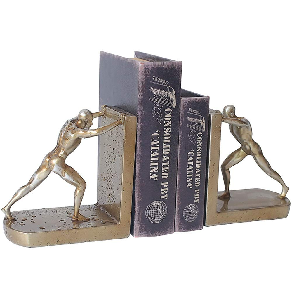 Dygzh Bookend Desktop Decorative Bookends Bookshelf Bookmark for A Coffee Shop Or Bookstore Multi-Function Bookend (Color, Size : 16.5x9.5x23cm) by Dygzh