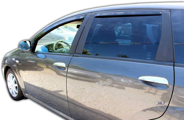 J/&J AUTOMOTIVE Windabweiser Regenabweiser f/ür FIAT Croma 5-t/ürer 2005-2010 Combi 4tlg HEKO dunkel
