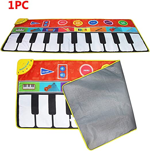 Kids Musical Mat Piano Keyboard Colorful Carpet Dancing Singing Cushion Baby Toy