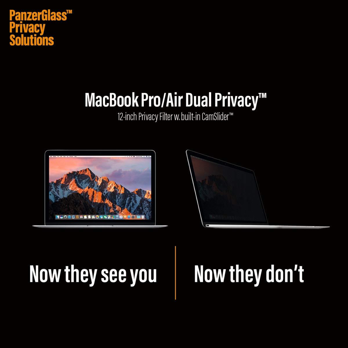 con protecci/ón Visual PanzerGlass Magnetic Privacy Protector de Pantalla para MacBook de 12 Pulgadas