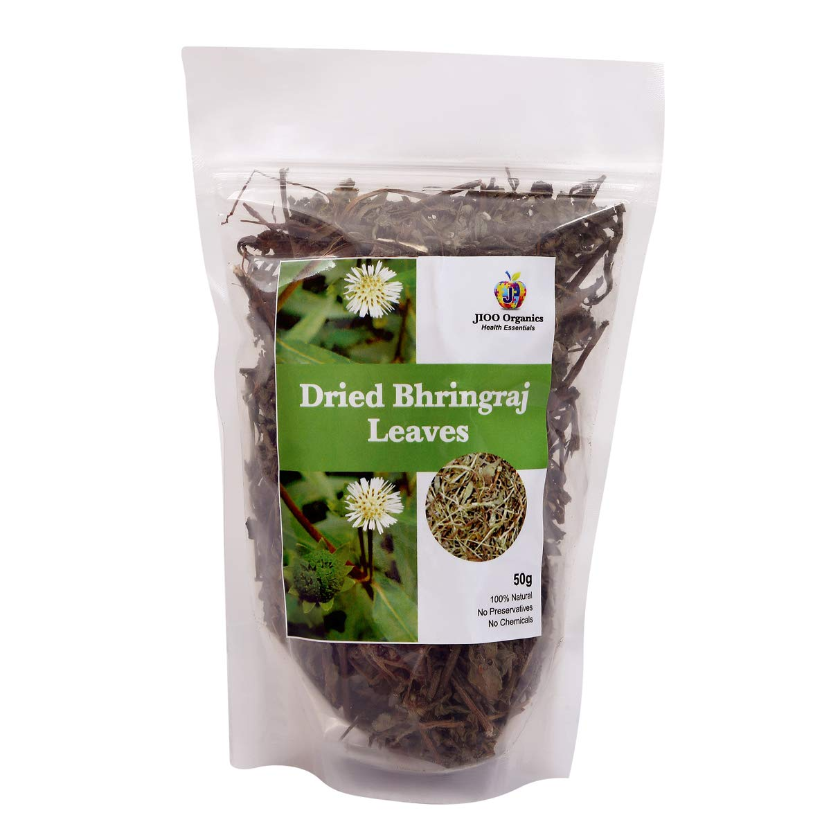 Jioo Organics Bhringraj Dry Leaves - Pack Of 50 Grams