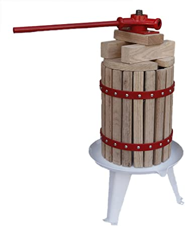 D+L Obstpresse mit 2X Presstuch Maischepresse Weinpresse Apfelpresse AWZ Saftpresse Obst 12L
