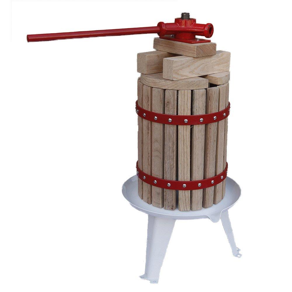 Grafner/® Obstpresse 6L Fruchtpresse Weinpresse Saftpresse Maischepresse Apfelpresse Obstm/ühle Beerenpresse 6 Liter Presstuch