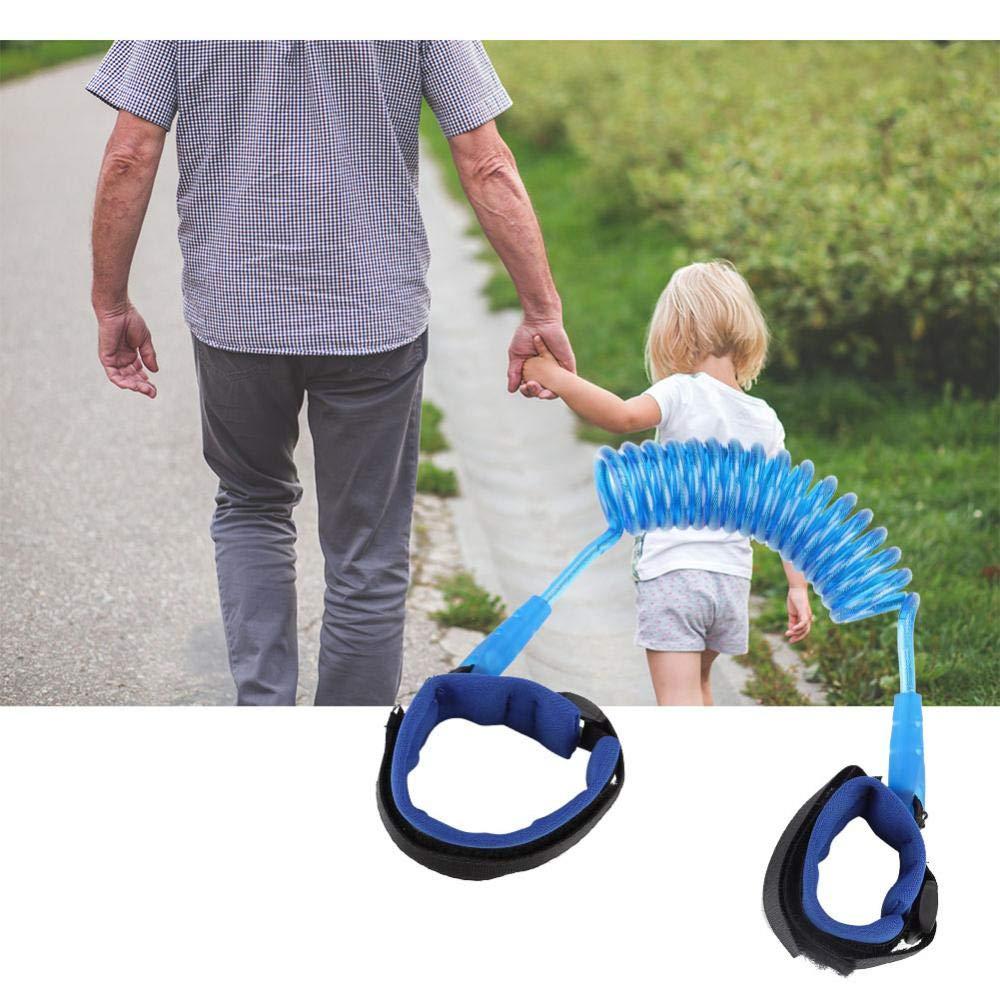 no t/óxico garant/ía de seguridad enlace de pulsera el/ástico duradero para ni/ños adultos de 1,5 m a prueba de desgaste protege a los ni/ños de perderse Azul fuerte Cuerda anti-perdida para ni/ños