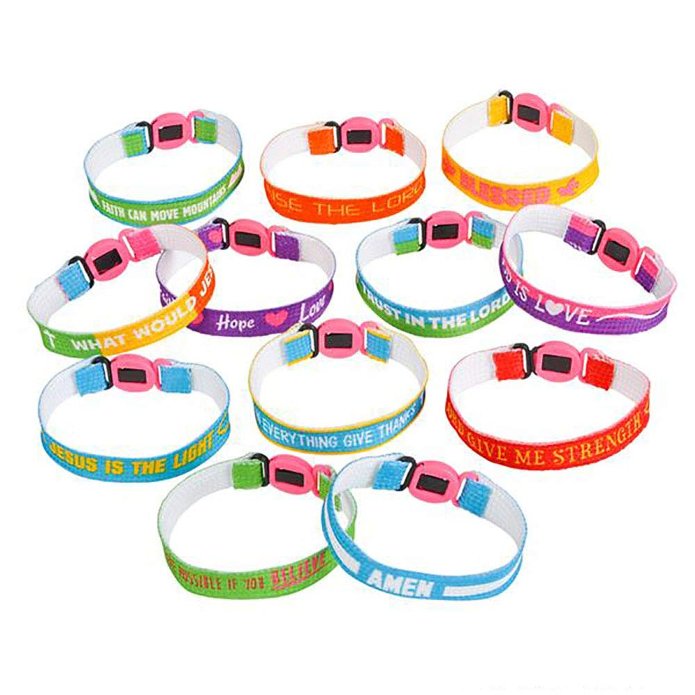 Assorted Religious Friendship Bracelet – 150 Pieces, Church Events, Gift Ideas, Youth Groups Souvenirs, Fundraising Campaign, Inspirational Messages, Best Friends Forever, Worship Concert