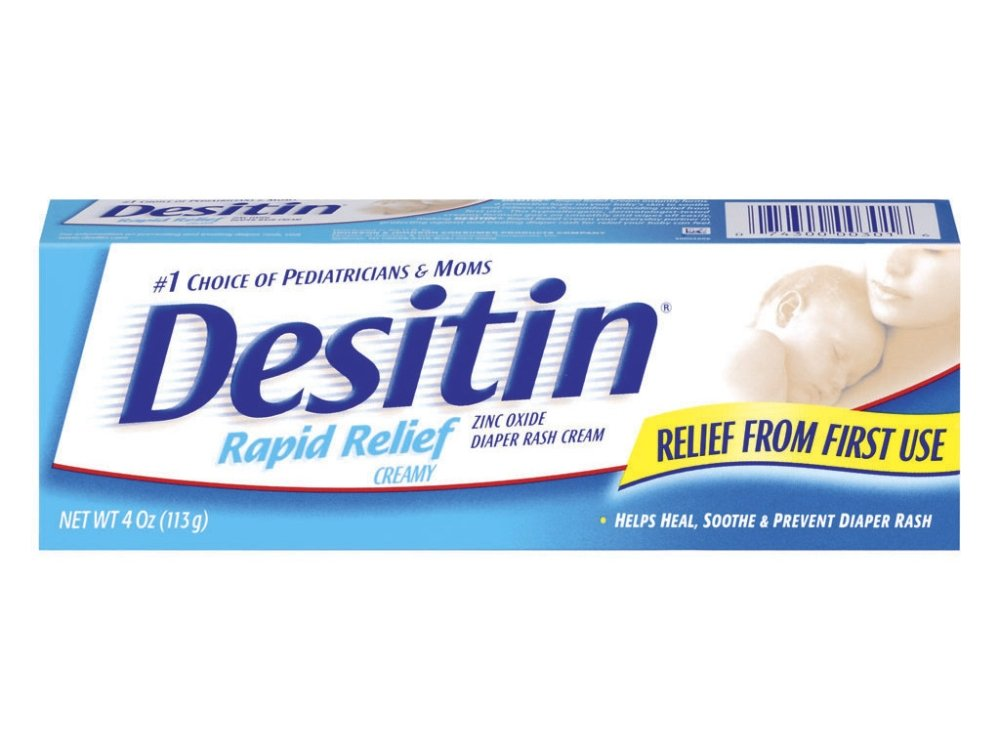 Desitin Diaper Rash Cream, Rapid Relief, Creamy - 4 oz, 6 pack J&J CONSUMER INC