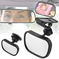 YSHtanj Baby Car Mirror CarSeatsAccessoires Rearview Mirror 360 Degree Rotary Safety Suction Cup Car Back Seat Baby Rear View Mirror Monitor - Black