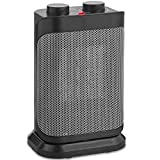 VonHaus 1500W Oscillating Ceramic Space Heater with Adjustable Thermostat, 2 Heat Settings, Fan